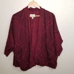 EUC AEO red cardigan one size fits most